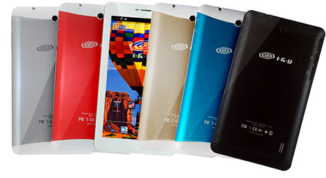 ассорти разноцветных планшетов IRU